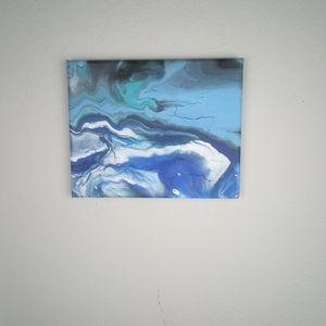 Handmade Wall Art - Acrylic Pour 8 x 10 Canvas